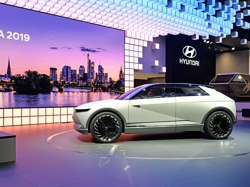 Future vehicles like Hyundai's 45 concept aim to narrow Tesla's lead. (image: Hyundai)