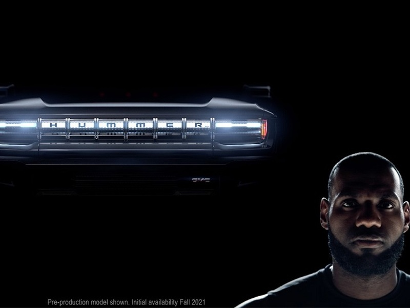 Lebron returns in a new Hummer EV teaser which gives us (slightly) more details. (images: GM)