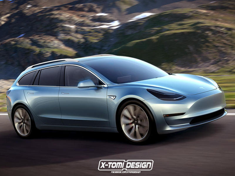 This rendering by X-Tomi Design makes a Tesla wagon look real.