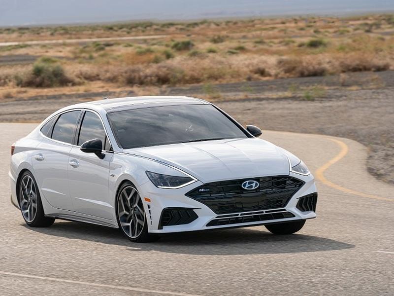 The N Line adds driving thrills (and $10K) to the 2021 Hyundai Sonata. (images: Hyundai)
