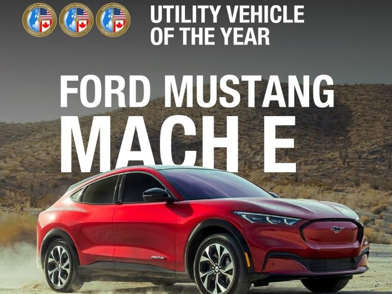 The electrified Ford Mustang Mach-E wins the Utility segment. (image: NACTOY)