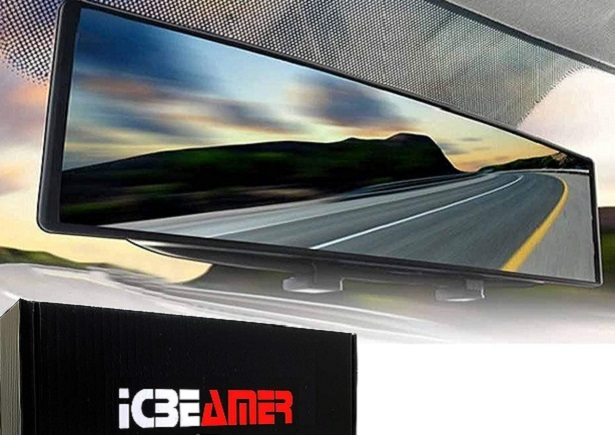Ice beamer rearview car mirror