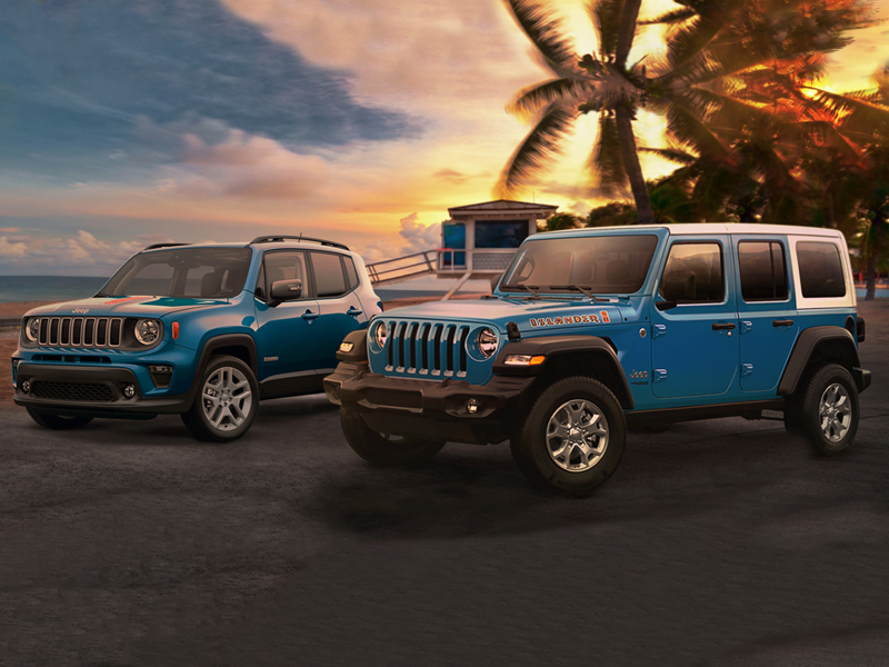 These SUVs should come with a tropical vacation voucher. (images: Stellantis)