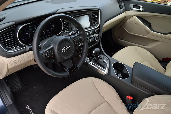2014 Kia Optima Hybrid EX Review | Web2Carz