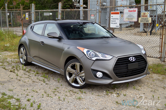 2014 hyundai veloster turbo review web2carz. Black Bedroom Furniture Sets. Home Design Ideas