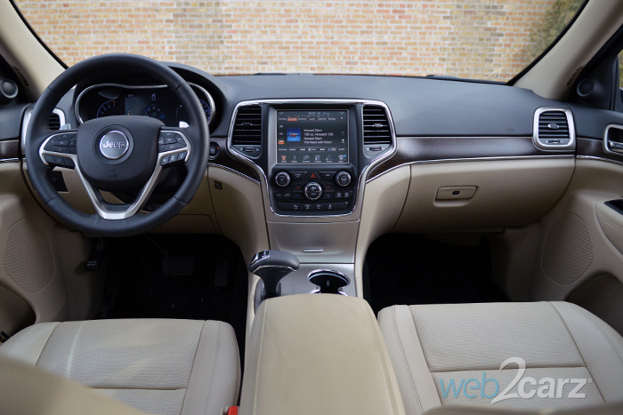 White Jeep Compass With Tan Interior
