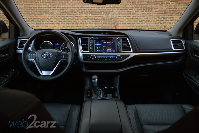 2015 toyota highlander hybrid limited review web2carz - Toyota highlander hybrid interior ...