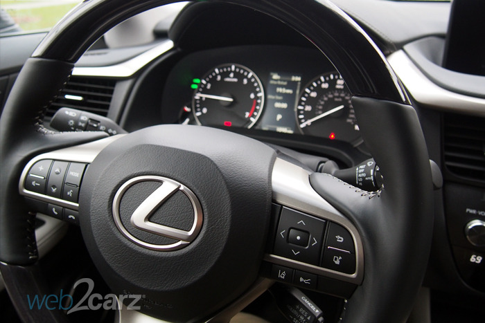 2016 lexus rx 350 review web2carz 2007 toyota prius steering wheel cover