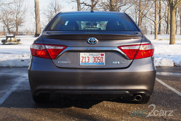 Toyota Camry Hybrid Rear End X on Green Rear End