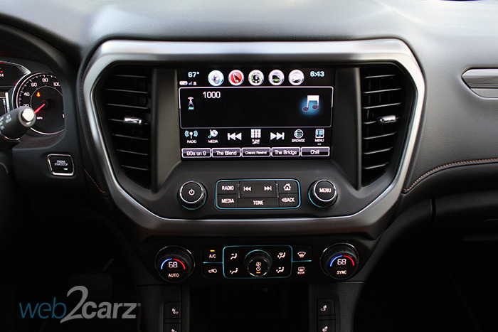 2017 gmc acadia awd all terrain review web2carz. Black Bedroom Furniture Sets. Home Design Ideas