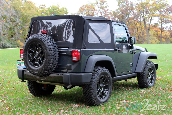 2016 jeep wrangler willys wheeler review web2carz. Black Bedroom Furniture Sets. Home Design Ideas