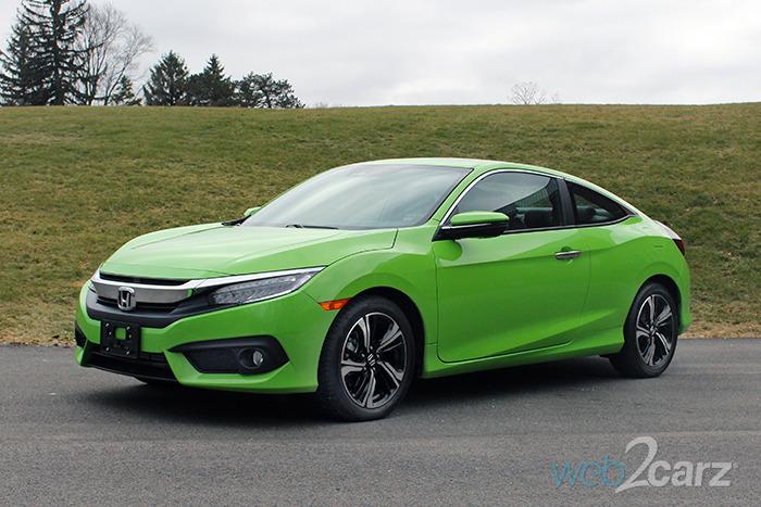 2017 honda civic coupe touring review web2carz for 2017 honda civic green