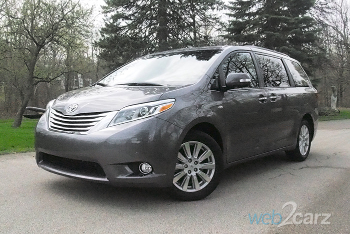 2017 toyota sienna limited premium awd review web2carz. Black Bedroom Furniture Sets. Home Design Ideas