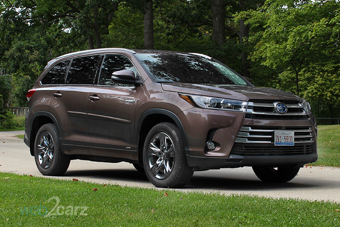 2017 toyota highlander hybrid limited platinum v6 awd review web2carz. Black Bedroom Furniture Sets. Home Design Ideas